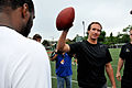 Drew Brees Saints practice at Tulane.jpg