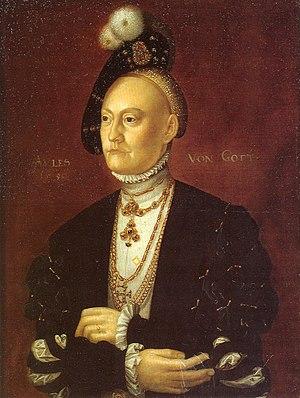 Dorothea of Saxe-Lauenburg - Portrait by Jakob Binck