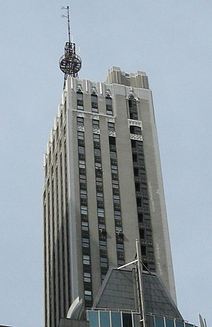 DuMont Television Network - The DuMont Building at 515 Madison Avenue in New York, with the original WABD broadcast tower still standing, 2008.
