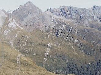 Dun Mountain-Maitai Terrane - Maitai Group sediments folded into an isoclinal syncline