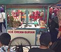Durian ice cream (es krim durian) vendor.jpg