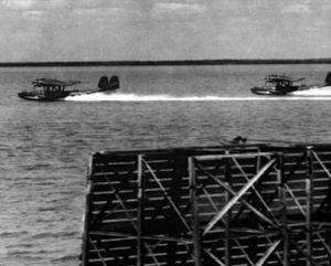 Dutch Do 24s taking off from Roebuck Bay 1941.jpg