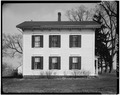 EAST ELEVATION - Jansonist Colony, Jacob Jacobson House, Bishop Hill Street, Bishop Hill, Henry County, IL HABS ILL,37-BISH,15-3.tif