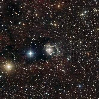 B(e) star - Image: ESO Reflection Nebula around HD 87643 phot 28a 09 fullres