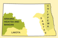Early Indian treaty territories, North Dakota - an overview map.png