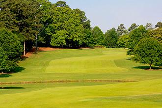 Rees Jones - View of No. 9 Fairway at East Lake Golf Club.