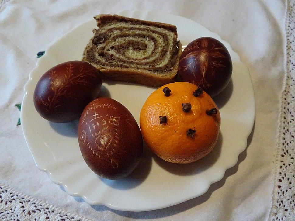 Easter eggs and Potica, Slovenia
