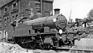 Shunting (rail) - A heavy steam shunting locomotive, SR Z class, Great Britain