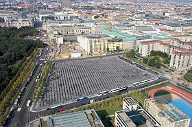 Ebertstrasse with Reichstag, Brandenburg Gate and Holocaust Memorial in 2005.jpg