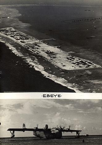 Ebeye Island - Ebeye Island seaplane base in 1945
