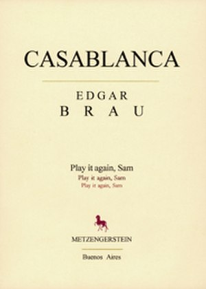 Edgar Brau - Casablanca first Spanish edition