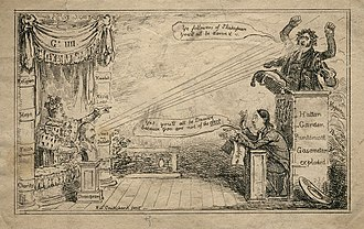 Edward Irving - Caricature of Edward Irving's preaching by Isaac Robert Cruikshank (1824).