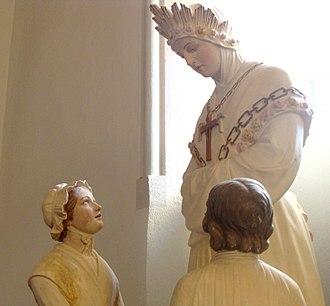 Our Lady of La Salette - Image: Eglise de Corps statue 82