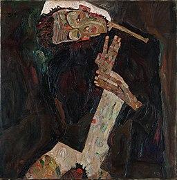 Egon Schiele - Liryk (1911, Sammlung Leopold, Wiedeń)