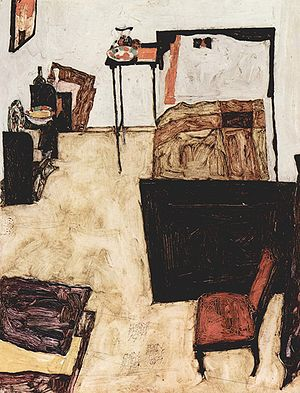Egon Schiele - Living room in Neulengbach, 1911