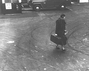 LaGuardia Airport - Eleanor Roosevelt at LaGuardia, 1960