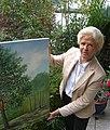 Eleonora Heine-Jundi, Baummalerin, 2006 im Garten ihres Domizils in Brohl-Lützing (Kr. Ahrweiler)..jpg