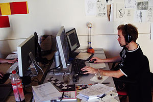 Photo of Working for movie Elephants Dream, Oc...