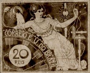 A Eletricidade - Projeto para selo integrante da coleção vencedora do Concurso dos Correios de 1904
