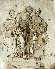 Święta Helena i służący (Studium trzech postaci)