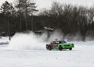 Ice racing - Studded tires on autos causing limited visibility