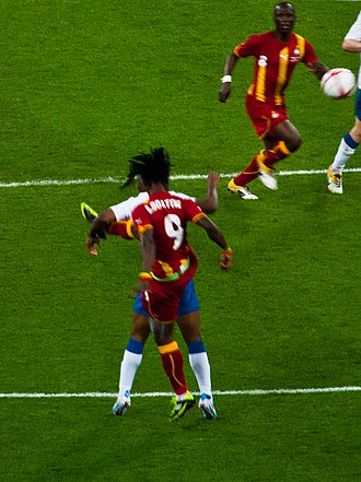 Derek Boateng - Boateng in action with the squad number 9, for the Ghana national team against England national team.