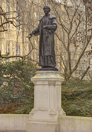 Rachel Barrett - The statue of Emmeline Pankhurst in Westminster. Barrett played a key role in raising the funds to erect this memorial.