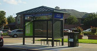 Houston Energy Corridor - METRO bus stop