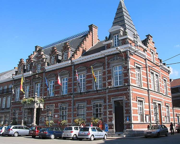 Enghien (Belgium), the town hall.