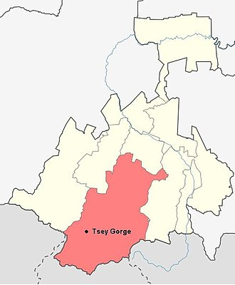 Tsey - Location of Tsey in the Republic of North Ossetia-Alania