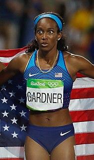 English Gardner American sprinter