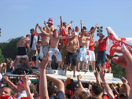 English football fans at the 2006 FIFA World Cup Englishfootballsupporters.jpg