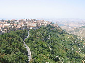 Muslim conquest of Sicily - View of Enna (Castrogiovanni)