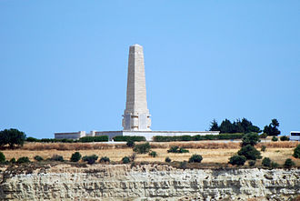 Arthur James Dingle - The Helles Memorial to the missing dead, where Capt Arthur Dingle is commemorated.