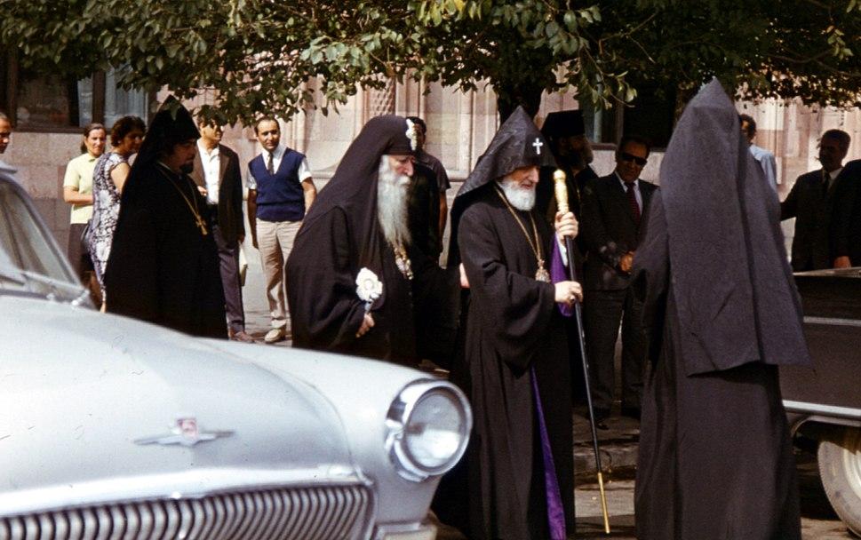 Erevan - Meeting of Catholicos of Armenia %26 Georgia - October 1972