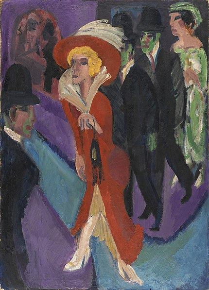 Archivo: Ernst Ludwig Kirchner - Calle con buscona de rojo.jpg