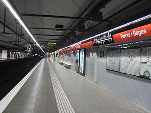 Torras i Bages (Barcelona Metro) - The station platforms