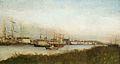 Eugène Boudin - Hafenansicht mit atmosphärischer Stimmung.jpg