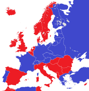Abolition of monarchy - Image: Europe 1930 monarchies versus republics