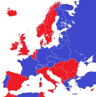 Abolition of monarchy - Image: Europe 1930 monarchies versus republics