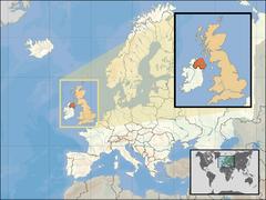 Położenie Irlandii Północnej