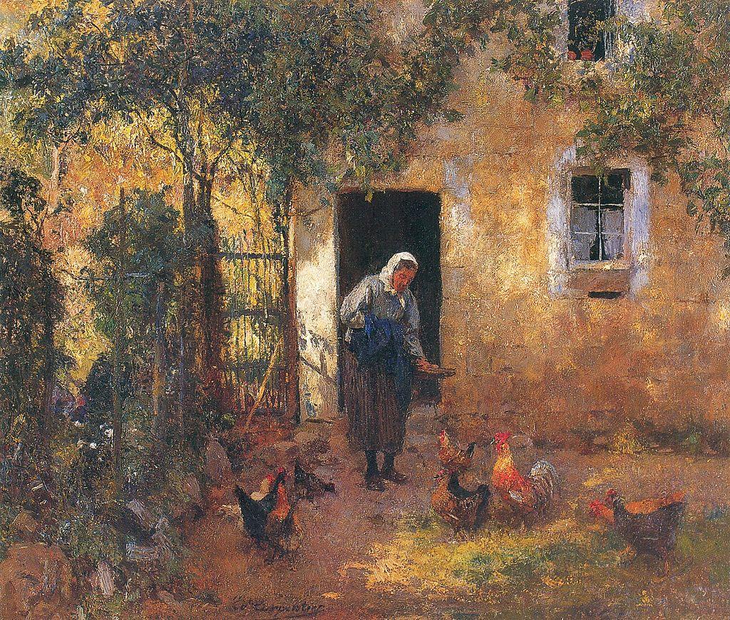 Ev. Carpentier - Le nourrissage des poules.jpg