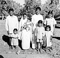 Evangelist J. Toppo and family, Chandwa, India, 1962 (16742968899).jpg