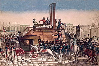 Timeline of the French Revolution - The execution of Louis XVI on the Place de la Révolution (now Place de la Concorde) (January 21, 1793)