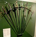 Exhibit of swords - Higgins Armory Museum - DSC05723.JPG