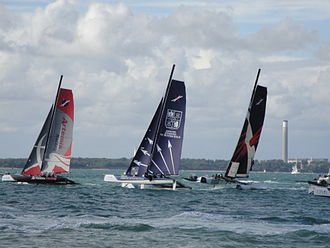 Extreme Sailing Series - Extreme 40s at the 2011 edition in Cowes
