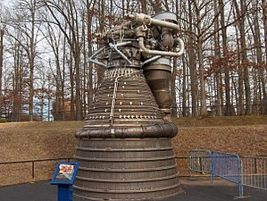 Motor F-1 exhibit al US Space and Rocket Center de Huntsville (Alabama)