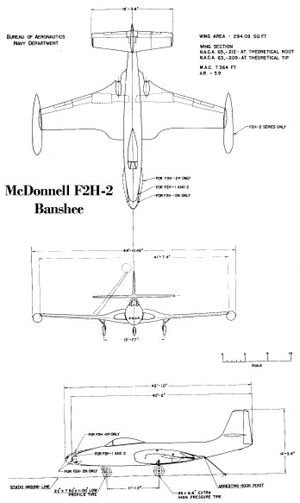 Line drawings for the F2H-2.