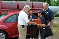 FEMA - 43922 - Governor Haley Barbour Greets FEMA Workers at Disaster Area.jpg