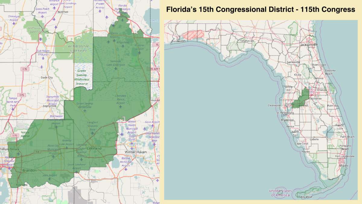 Floridas Th Congressional District Wikipedia - Florida map districts